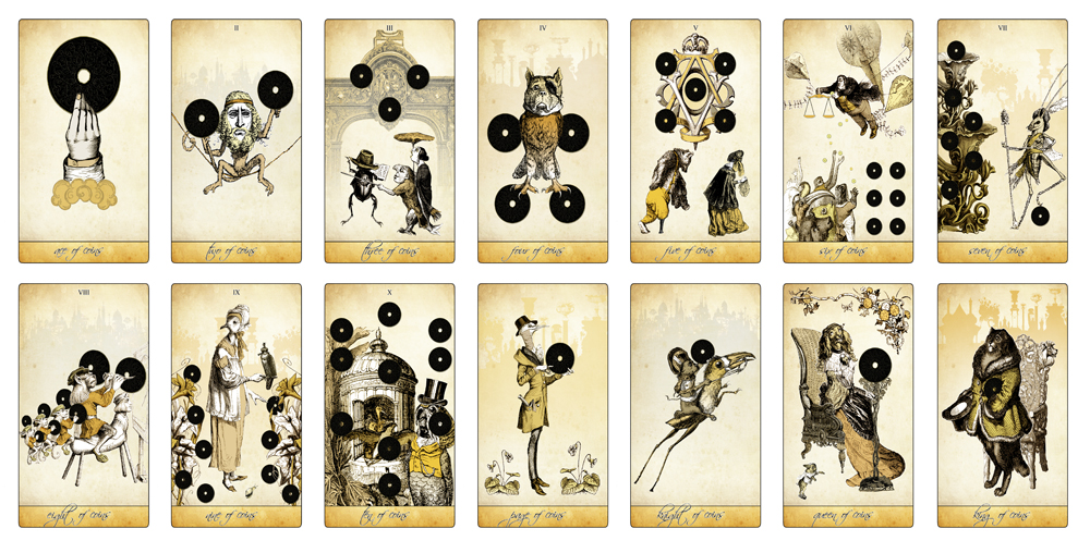 The Isidore Tarot - The Coins Suit