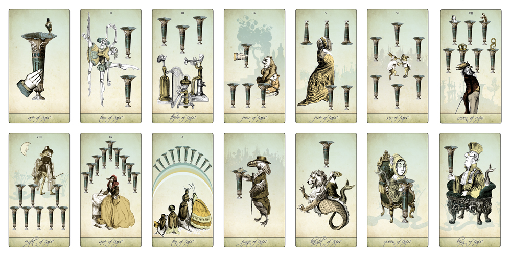 The Isidore Tarot - The Cups Suit