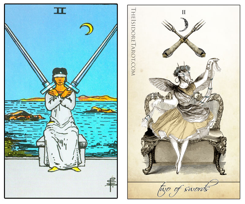 The Isidore Tarot compared to the Rider Waite Smith
