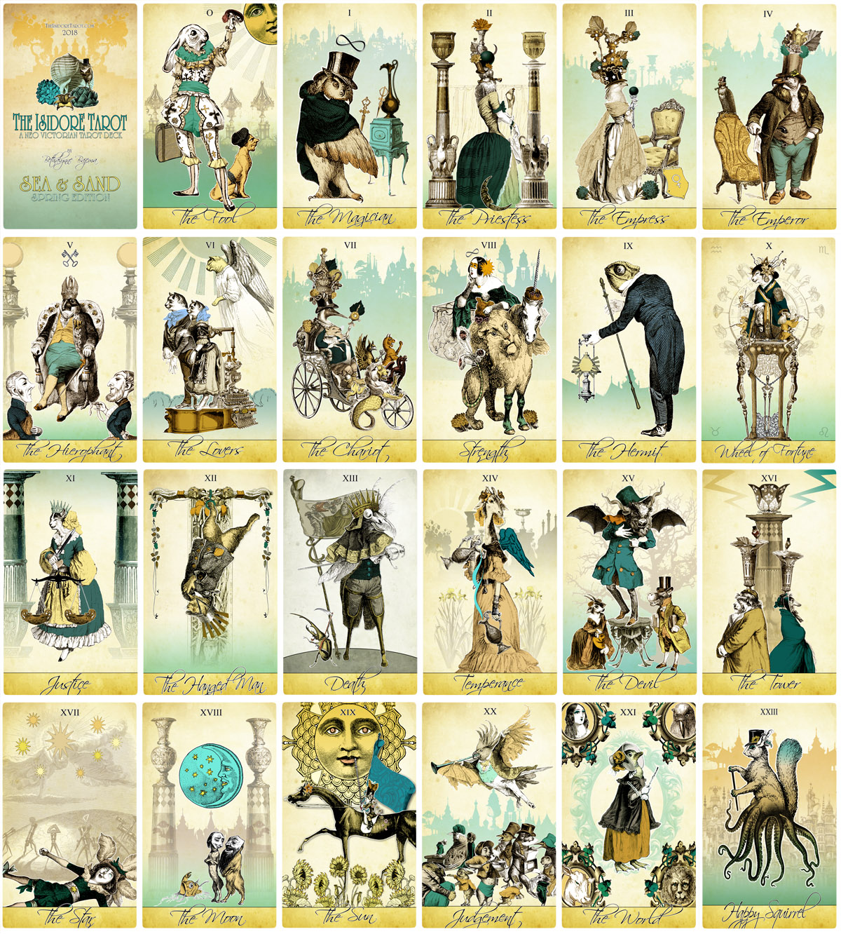 The Isidore Tarot - Sea and Sand Spring Edition